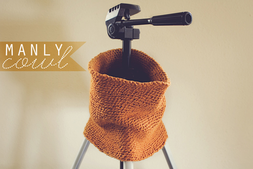 crochet pattern manly cowl