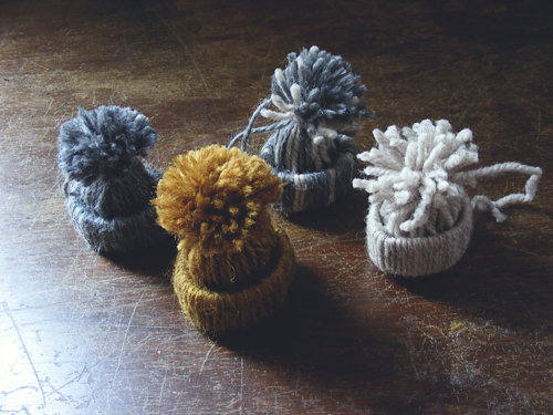 Новогодние шапочки из ниток своими руками