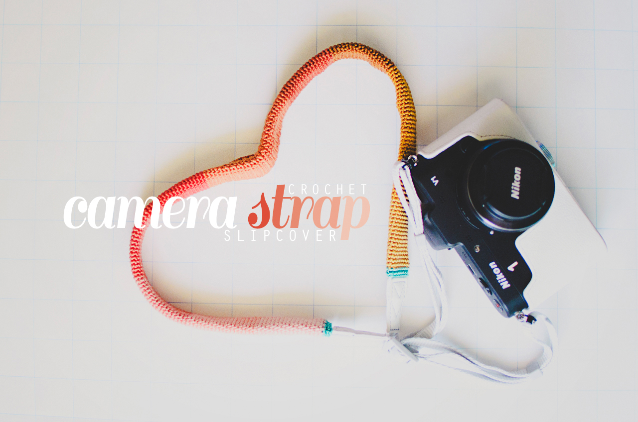 crochet a camera strap slipcover