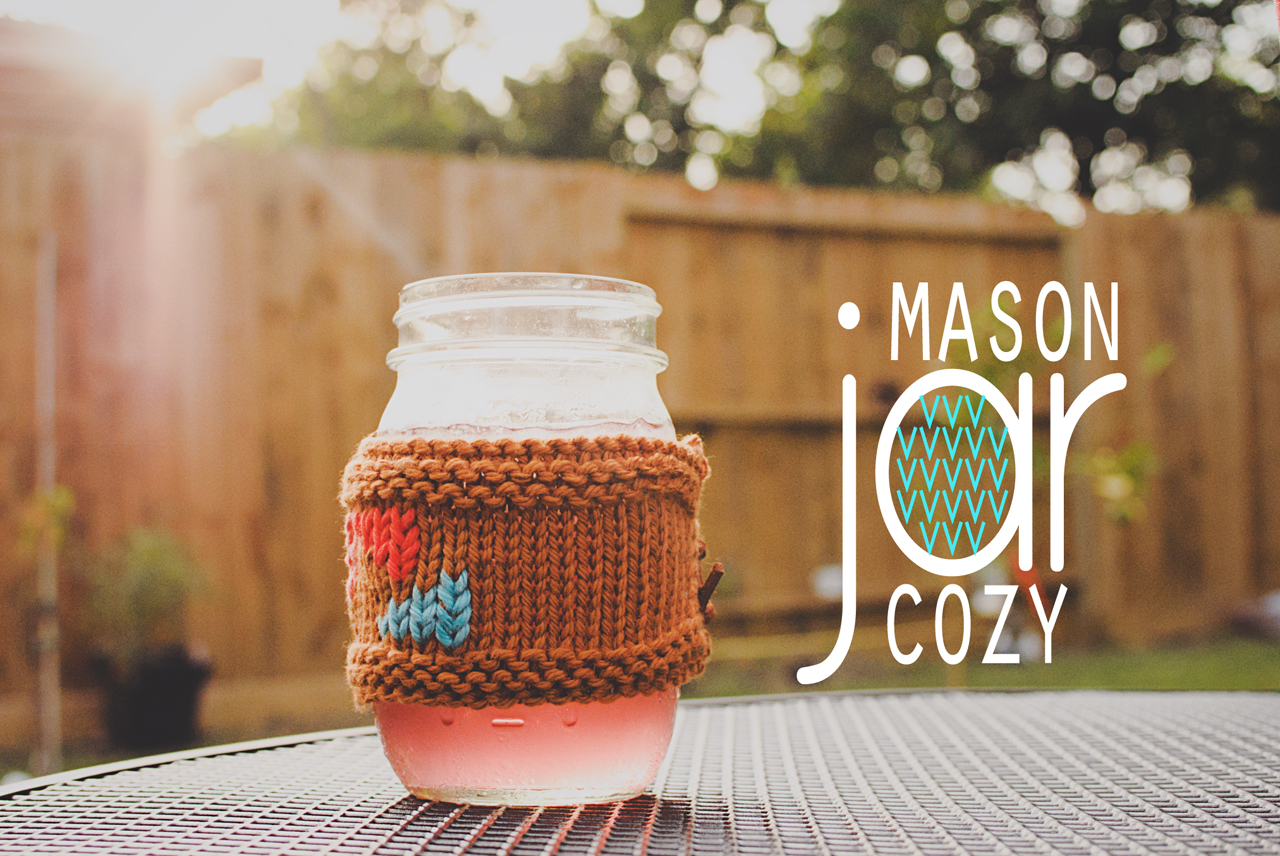 mason jar cozy on goodknits