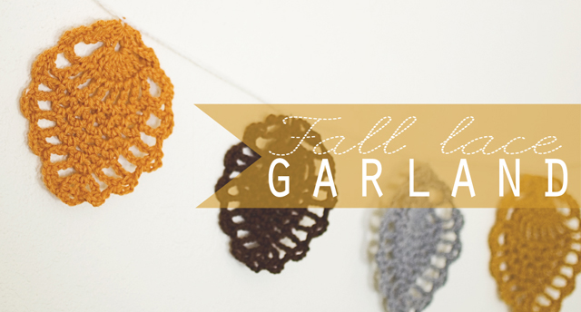 Crochet: Fall Lace Garland