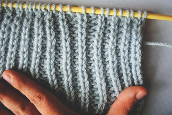 knit half brioche stretch
