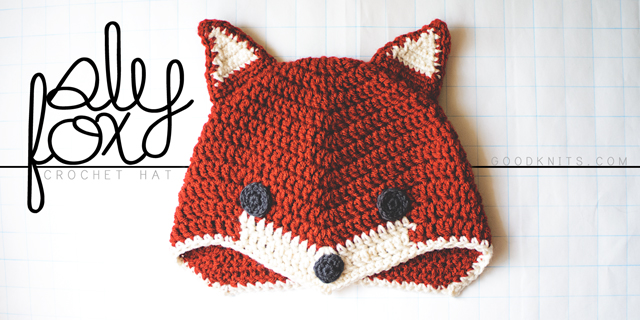 Crochet Sly Fox Hat Goodknits A Knitting Crochet Blog