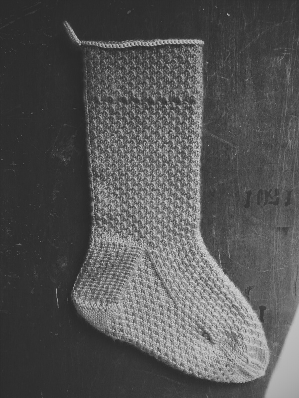 knit heirloom stocking