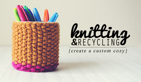 Knit a custom cup cozy