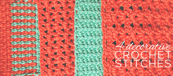 Four decorative crochet stitches