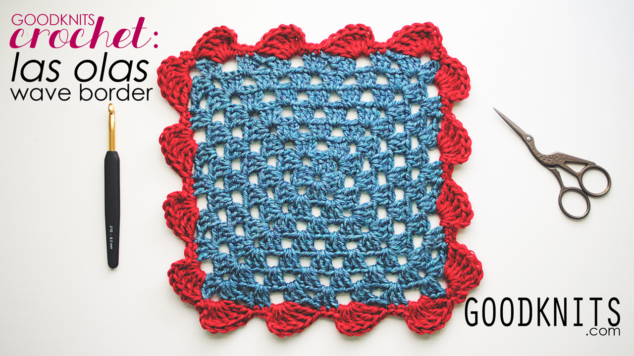 crochet border pattern waves