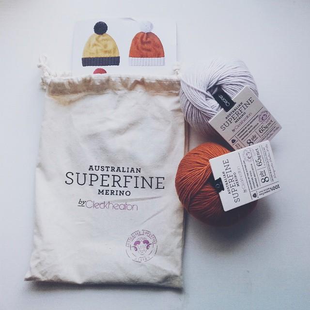 Cleckheaton Superfine Merino Beanie Kit