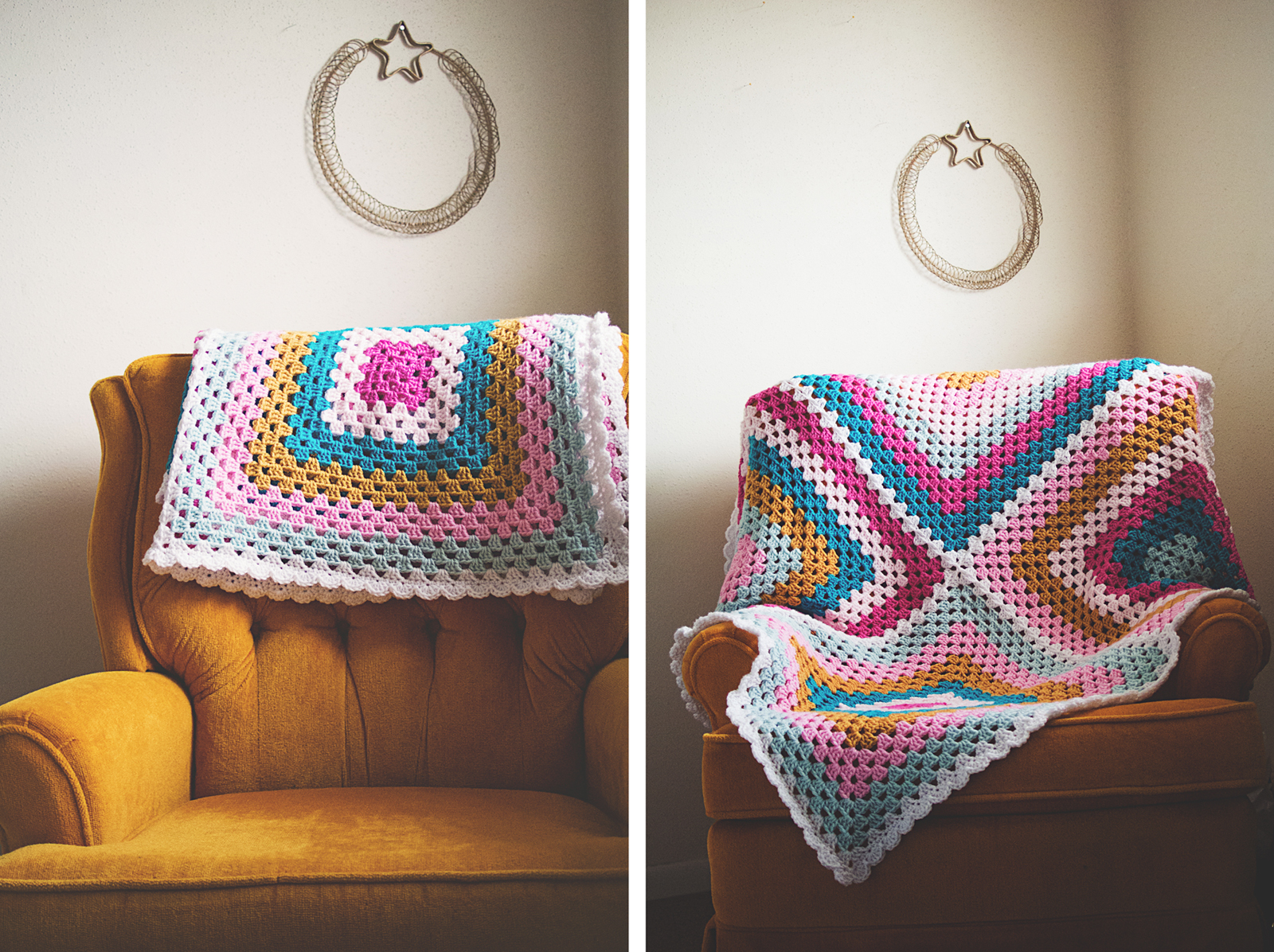 granny four square baby blanket