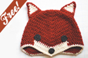 crochet sly fox hat